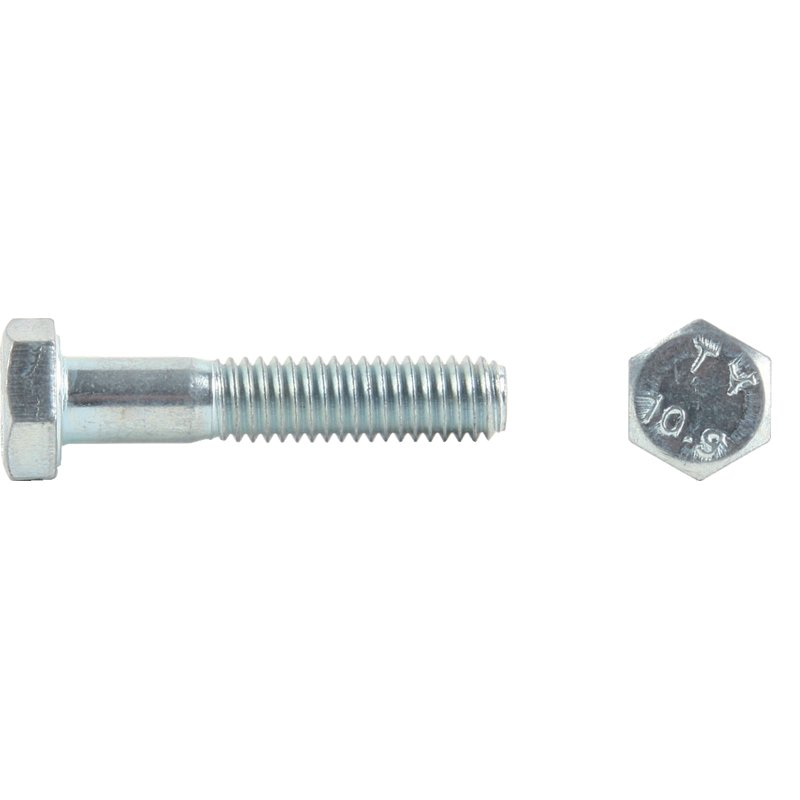 Güte 10.9 M10 Stahl verzinkt DIN 931 10 Stk Sechskantschraube mit Schaft